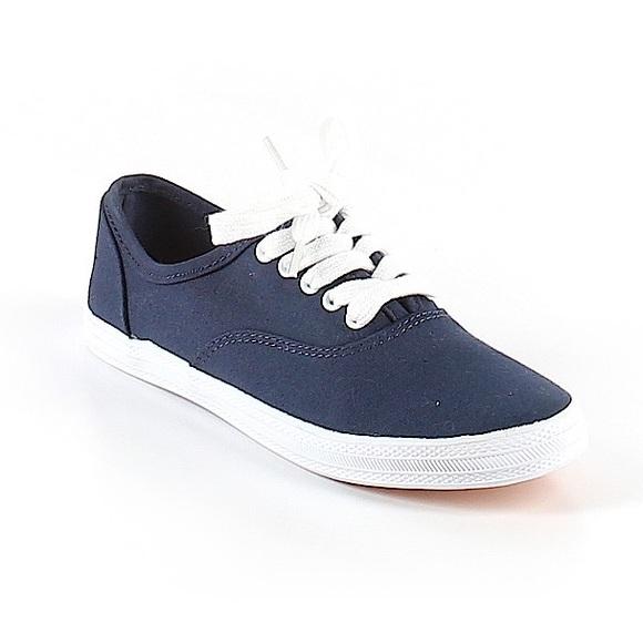 Shoes   Navy Blue Canvas Shoes   Poshmark